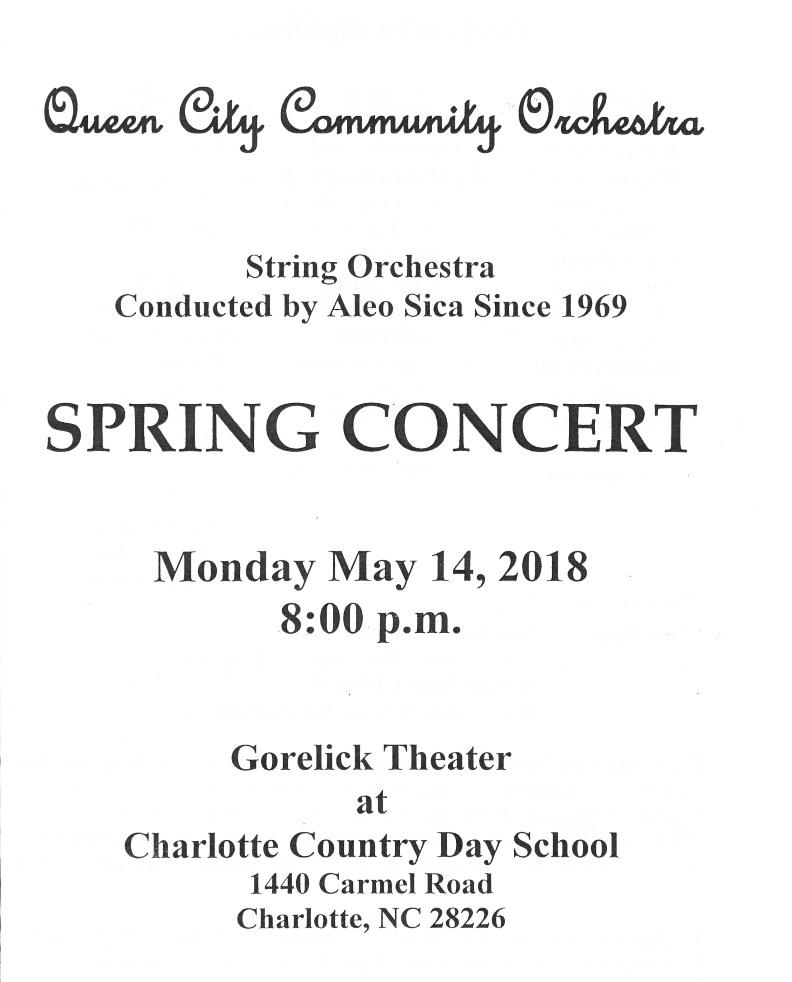 Spring 2018 Concert